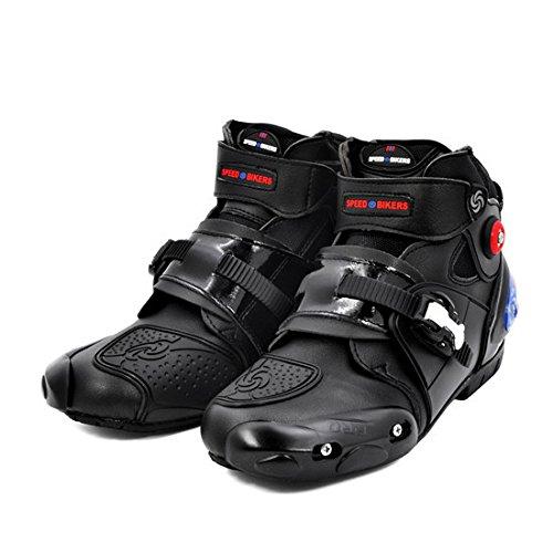 BJ Global Marca Profesional–Botas para Moto Racing Botas Calzado de Tobillo Proteger...