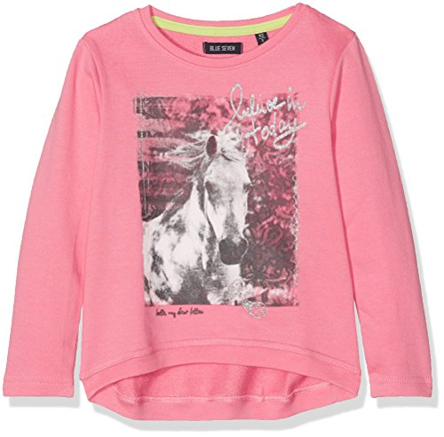 BLUE SEVEN Mädchen Sweatshirt 717525 X Rosa (Azalee Orig 415), 92 (Pferd Rosa Shirt)