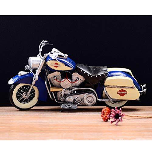 PENGJIE-Model Motorradmodell 1:18 Retro Vintage Zinn Motorrad Modell Handgemachte Eisen Kunst Hauptdekorationen Geschenke (Color : Blue) (Vintage Motorrad-reifen 18)