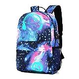 Haoyipu Fashion Teenagers Backpack for Laptop Port Travel Backpack Large Capacity Girl Backpack