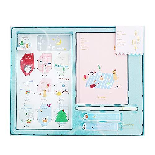 LKIHAH Hardcover Notizbuch,Notebook Einfacher Tragegurt Reise-Kontobuch Tragbares Reise-Notebook Exquisites Papier Multifunktionsplan Planbuch,Pink