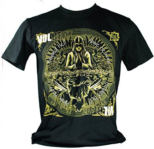 Volbeat-Maglietta da uomo nero Beyond Hell Above Heaven Extra Large Size Xl
