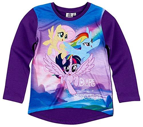My Mädchen Little Kostüm Pony - Pony My Little Langarmshirt Mädchen Rundhalsausschnitt (Lila, 104)