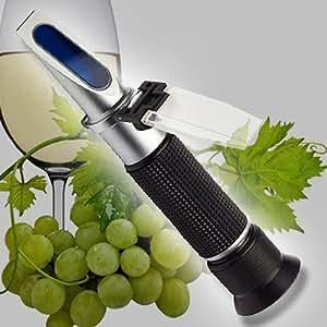 Réfractomètre vigneron viticulteur cave 190°Oe, 44% sucre, 40% KMW vin bière saison de la récolte R06-FBA
