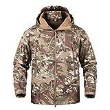 YuanDiann Homme Tactique Camouflage Veste Softshell Automne Hiver Outdoor Armée...
