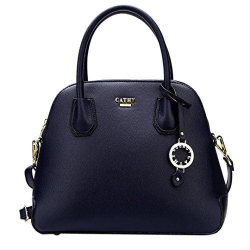 Cathy London Women\'s Handbag, Material- Syntethic Leather, Colour- Blue