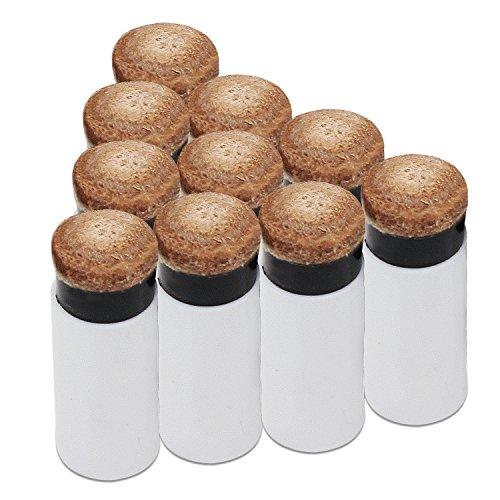 KEESIN 12MM Hart Cue Tipps Billard Ersatz Schraub-Tipps mit Pool Queue Stick Ferrules 10 Pack (Braun)