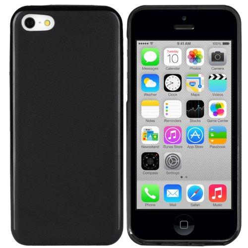 iPhone 5C Hülle Schutzhülle Case Tasche für Apple iPhone 5C (Schwarz-transparent) Schwarz