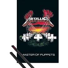 Póster + Soporte: Metallica Póster (91x61 cm) Master Of Puppets Y 1 Lote De 2 Varillas Negras 1art1®