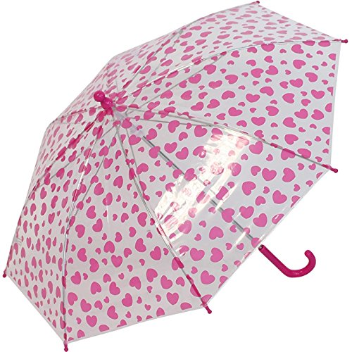 Regenschirm Kinder durchsichtig transparent Bambino Hearts
