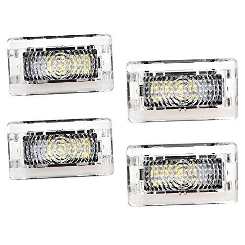 4 Stück Autotür Leuchten LED Automotive LED-Innenleuchten Innenleuchten für 3 Modell S Modell X - Leuchten LED-Licht Ersatz-Innenleuchten Ultrabright Lamp - Car Door Lights -