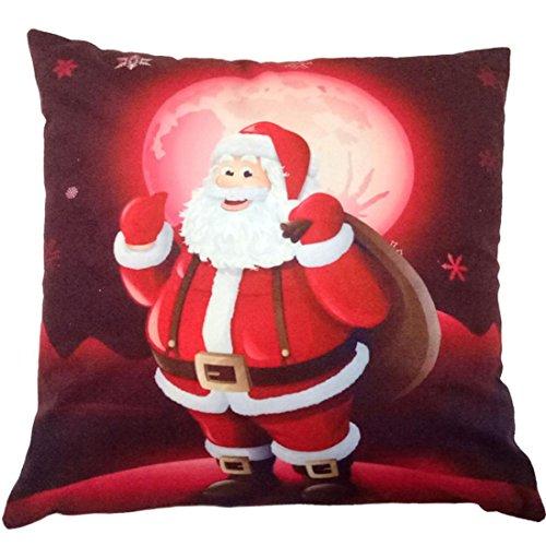 Charberry Père Noël Taie d'oreiller Canapé Taille Throw Housse de coussin, Tissu super doux, E, Size: 45cm*45cm