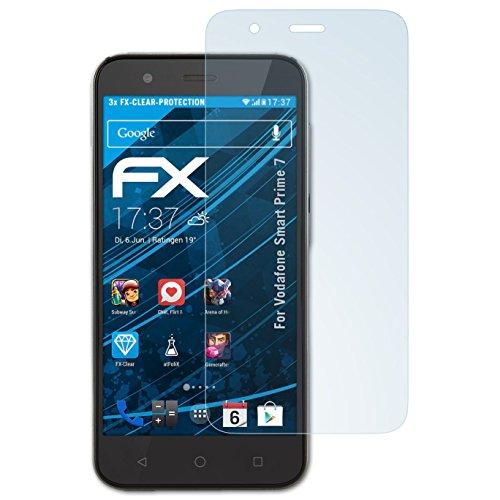 atFolix Schutzfolie kompatibel mit Vodafone Smart Prime 7 Folie, ultraklare FX Bildschirmschutzfolie (3X)