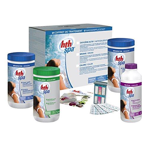 SPA KIT SAUERSTOFF 5,4 kg + 2,0 l von HTH - Komplettpflege für 3 - 4 Monate auf Basis von Aktivsauerstoff