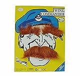 thematys Schnurr Bart braun mit Augenbrauen selbstklebend Klebe Bart Schnurrbärte Oberlippenbart Oberlippenbärte Karneval Fasching Kostüm Kostüme Verkleidung Moustache