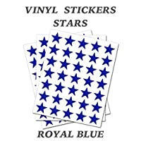 Set of 100 - Royal Blue Star Merit Reward Stickers - Removable Self Adhesive Waterproof Durable Vinyl Label Sticker 15mm each for School, preschool, Nursery & Home Activity by PARTY DECOR