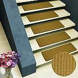 Pure Nature Sisal Stufenmatten | 15 Stück Set | rechteckig, ohne Lippe, natur