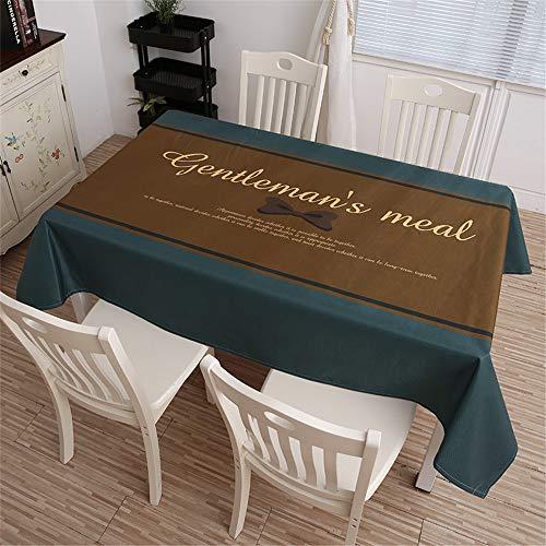 QWEASDZX Tischdecke Kleine frische Baumwolle und Leinen Digitaldruck Ölbeständige wasserdichte rechteckige Tischdecke Geeignet für drinnen und draußen Mehrweg 140x140cm