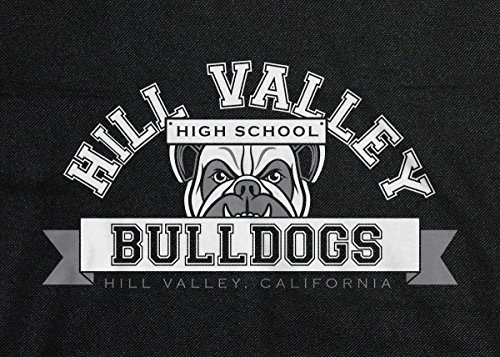 Back to the Future: Hill Valley Bulldogs retro messenger bag Black