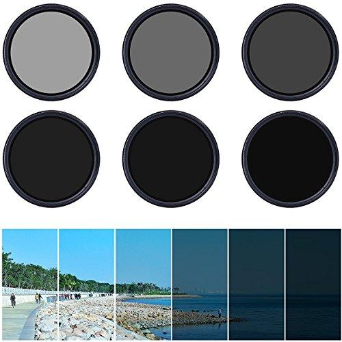 XCSOURCE Einstellbare 55mm Fader ND-Filter Neutrale Dichte ND2 ND4 ND16 a ND400 mit Stoff und Leinwand LF303
