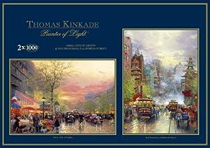 Thomas Kinkade Gibsons - Puzzle de 1000 Piezas, diseño de París y San Francisco