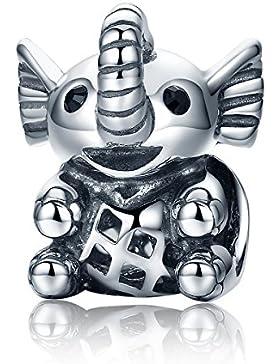 Lucky Elefant 925Sterling Silber Beads Charms Christmas Gifts passend für europäische Armbänder Fashion Schmuck