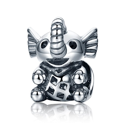 Charms Lucky Charm-armband (Lucky Elefant 925Sterling Silber Beads Charms Christmas Gifts passend für europäische Armbänder Fashion Schmuck)