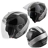 Casco Pro Casco jet Casco motociclo a Roller interno parasole nero L