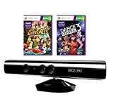 MICROSOFT XBOX 360 KINECT SENSOR WITH DANCE CENTRAL 3 AND ADVENTURE