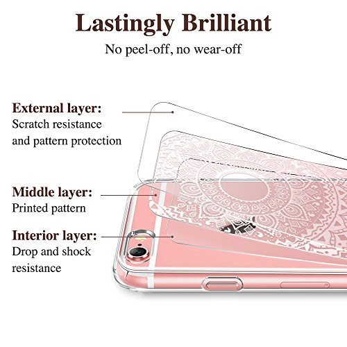 iPhone 6 / 6S Hülle (4,7 Zoll), ESR® Weiche TPU Rahmen mit Hartem PC Rückdeckel Schutzhülle Bumper Case Hülle für iPhone 6/6s (Manjusaka) Manjusaka Ohne Lanyard