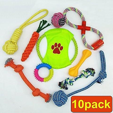 Hundespielzeug Set, Vielzahl Pet Baumwolle Kauspielzeug Seilen für kleine Hund, Welpen, Katzen, Kaninchen