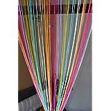 Handloomwala Beautiful Multicolored String Thread Door Curtain   7 Feet, 1  Piece