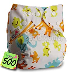 Baby Washable Reusable Real Cloth Pocket Nappy Diaper Cover Wrap, suits Birth to Potty One Size Nappy Diaper Cover