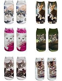 6a79316a1e1 Amazon.fr   chat - Chaussettes   Chaussettes et collants   Vêtements