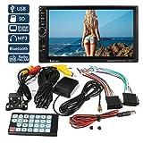 Bescita GPS Navigation HD Doppel 2 Din Auto Stereo MP5 Player Bluetooth Radio in Dash + Cam, Fernbedienung, Rückfahrkamera mit Kabel