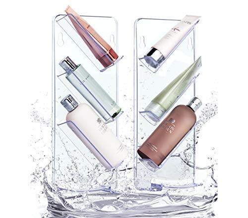 e, ohne Saugnäpfe oder Schrauben, modernes preisgekröntes Design, rostfrei, Doppelpack ()