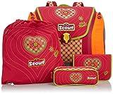 Scout Schulranzen-Set Basic Mega Set 4 tlg Pink Heart