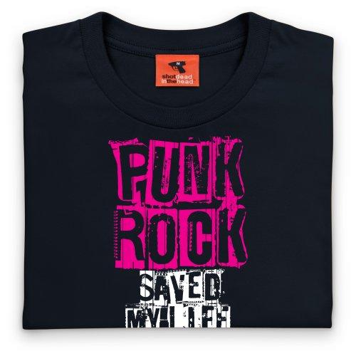 Punk Rock Saved T-shirt, Uomo Nero
