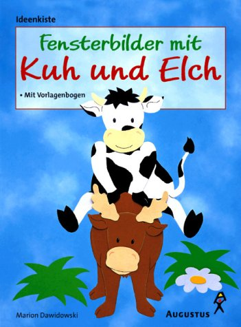 Fensterbilder mit Kuh und Elch -