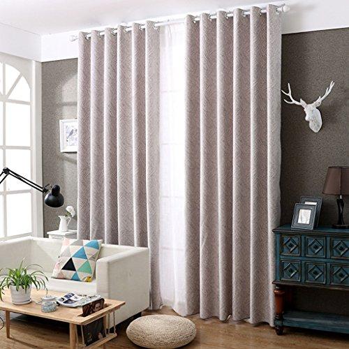 Vorhänge Met Love Chenille Einfache Moderne Landung Jacquard Schlafzimmer Wohnzimmer büro 2 Panels (größe : 3.5 * 2.7m) -
