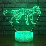 3D Night Light7 Farbwechsel Tier Touch Button Nachtlichter Usb Weasel Modellierung 3D Led Kindertischlampe für Wohnzimmer Luminarias Home Decoration
