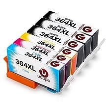 Uoopo Compatible Reemplazo HP 364XL Cartuchos de Tinta Juego de 6 (3 Negro 1 Cian 1 Magenta 1 Amarillo) Alta capacidad Compatible con impresora HP Photosmart 7510 5520 5510 7520 5515, HP Deskjet 3070A 3520, HP officejet 4620