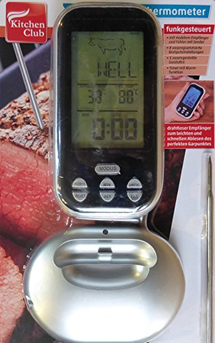 Kitchen Club (Kitchen Club Digitales Funk-Bratenthermometer großes Display Tragbar)