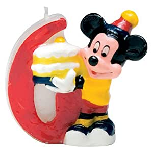 Disney Mickey Mouse Birthday Candle Number 6