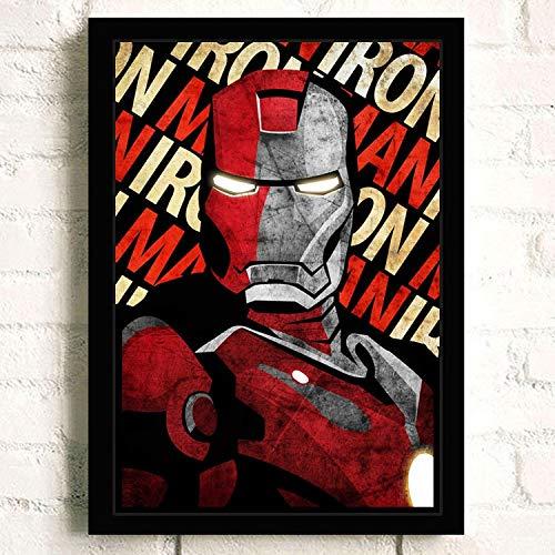 XWArtpic American Classic Movie Charakter Poster Superheld Supermacht Bild Wohnkultur Wohnzimmer wandkunst leinwand malerei 80 * 110cm Q