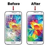 MMOBIEL Front Glas Reparatur Set für Samsung Galaxy S5 G900 / S5 Neo G903M Series (Schwarz) Display Touchscreen mit 11 TLG. Werkzeug-Set inkl Klebe-Sticker/Pinzette / Saugnapf/Metall Draht/Tuch Test