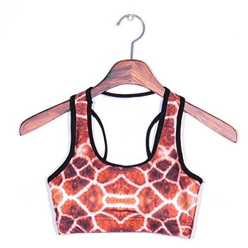 WKAIJCC Donna Sport Reggiseno Biancheria Intima Digitale Stampa Yoga Senza Anello In Acciaio Nessuna Traccia Comodo E