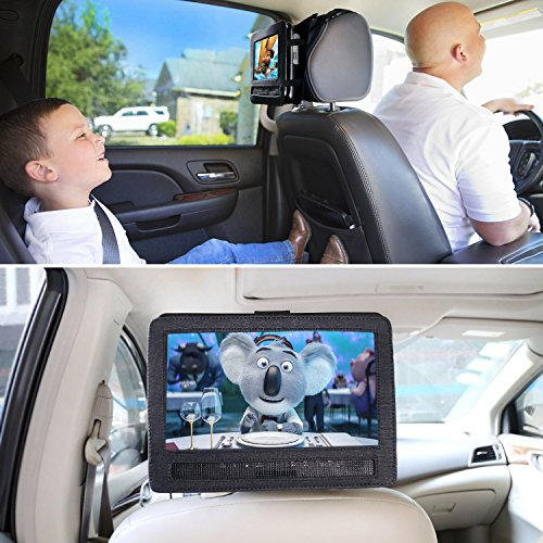 NAVISKAUTO 9-9,5 Zoll Auto KFZ Kopfstützenhalterung Kopfstütze Halterung Gehäuse für Tragbarer DVD Player Spieler Kopfstützenmonitor Monitor Y0194 - 2