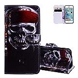 Aeeque Luxe Coque de Protection pour iPhone SE/iPhone 5S/iPhone 5 (4 pouces) Crâne...