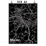 Mr. & Mrs. Panda Poster DIN A2 Stadt Mainz Stadt Black -